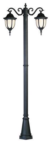 Trans Globe Lighting Hamilton Black Od Lamp Post W/ 2 Light 60w - 4043 Bk.