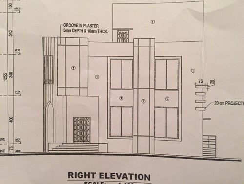 Any Body Can Help Me Out To Design My Front Look Of My House Which Showed In This Picture