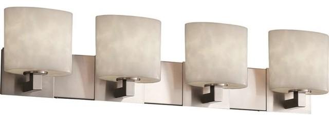 Justice Design Cld-8924-30-Nckl Clouds Bathroom Light, Brushed Nickel.