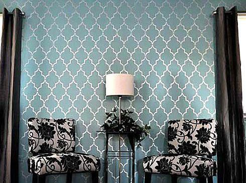 Marrakech Trellis Wall Stencil Pattern Reusable Stencils For Diy Home Decor