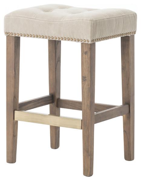 four hands furniture four hands ashford sean counter stool desert canvas bar stools