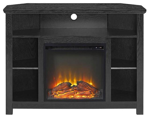 corner highboy fireplace tv stand driftwood
