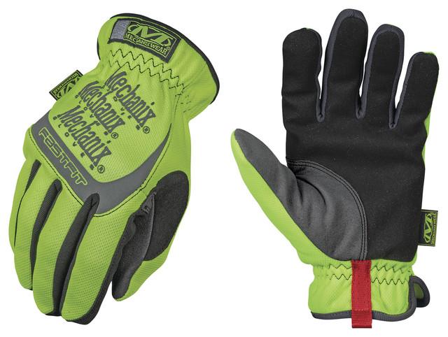 Mechanix Wear Large Hi-Viz Yellow Safety Fastfit Gloves.