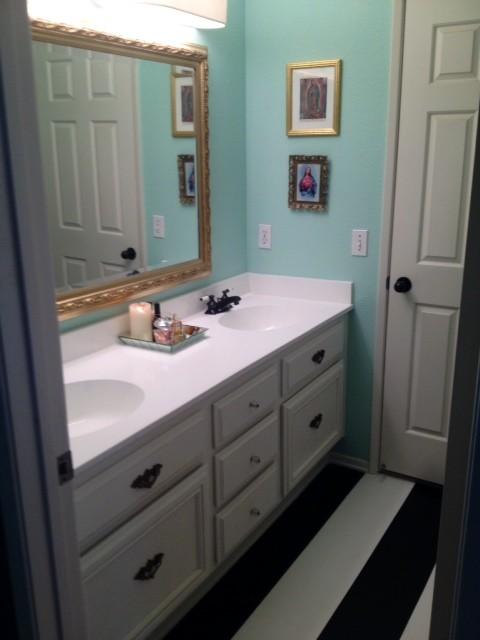 Bathroom Vanity Light Refresh Kit no budget builders grade bathroom