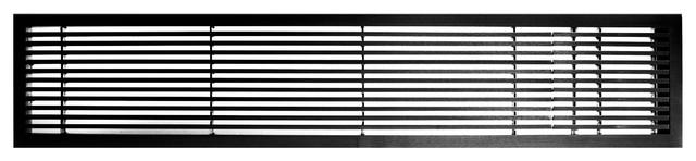 Ag20 Series 4x24 Right Door Solid Aluminum Fixed Bar, Black-Matte.