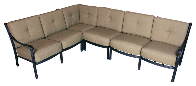 Barcelona Deep Seating Sectional set with Sunbrella