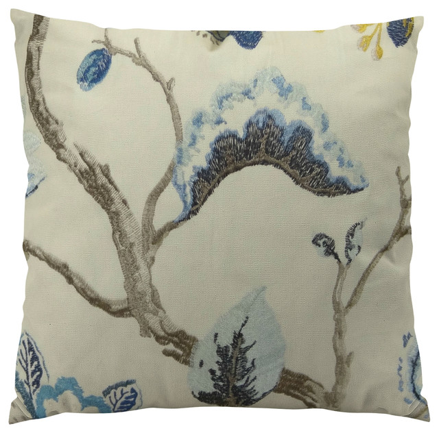 Plutus Bloom City Handmade Throw Pillow, Double Sided, 26x26.