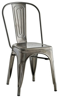 Promenade Side Chair, Gunmetal