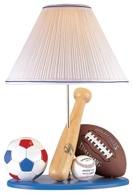 Attrayant Childrens Table Lamps On Kids Lite Source All Sport Childs Table Lamp With  Blue Base Eclectic