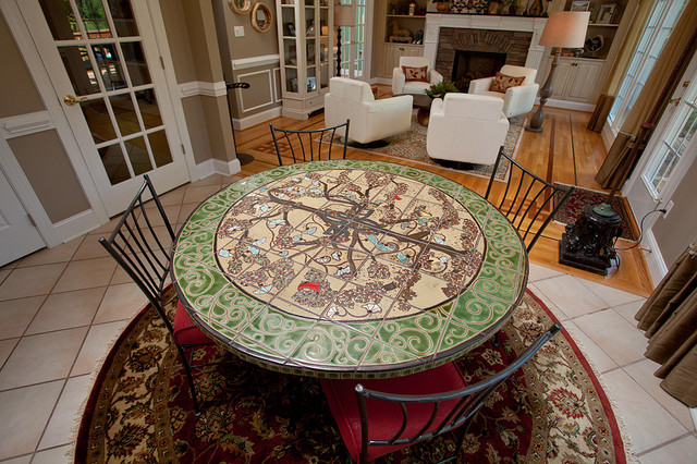 Custom tile breakfast table - Eclectic - Dining Room - Raleigh ...