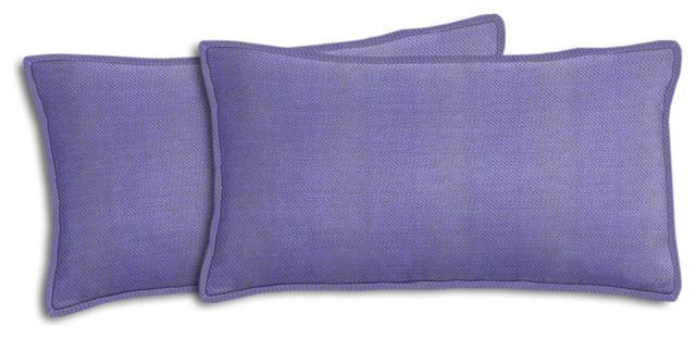 Michelangelo Lavender Outdoor Lumbar Pillow Set