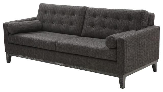 Centennial Sofa Charcoal Chenille Fabric transitional-sofas
