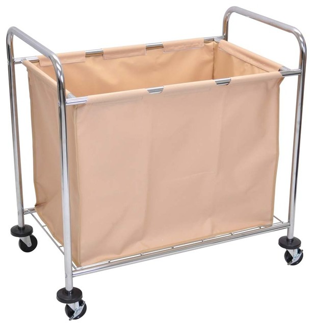 Luxor Hl14 Laundry Carts With Steel Frame And Canvas, 3-Pack.