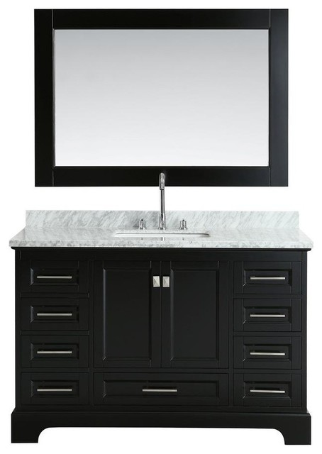 Design Element Omega 54 Single Sink Vanity Transitional