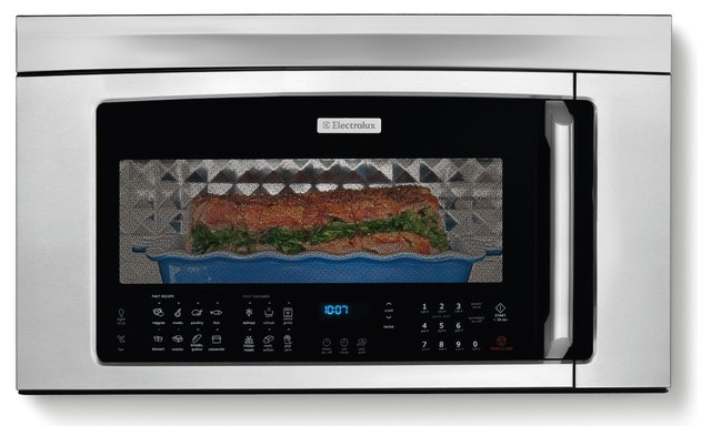 "Iq-Touch30"" Over-The-Range Convection Microwave Interior, Stainless Steel."