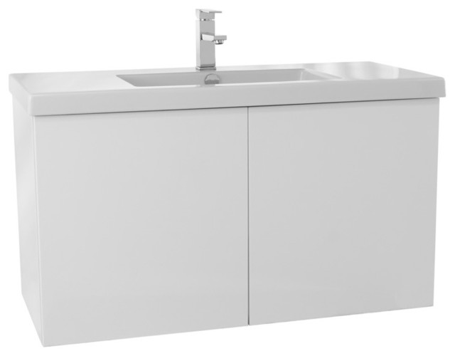 39 Bathroom Vanity Set, Glossy White.