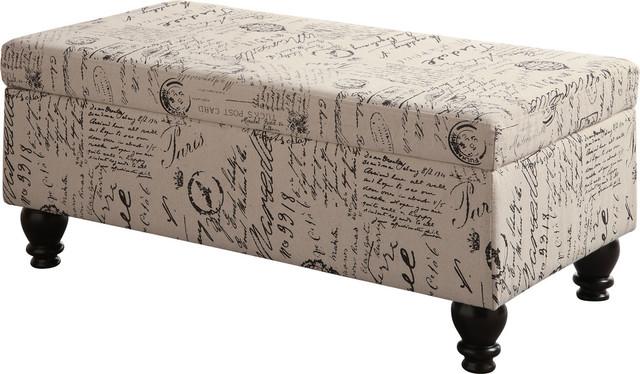 Coaster French Script Storage Bench
