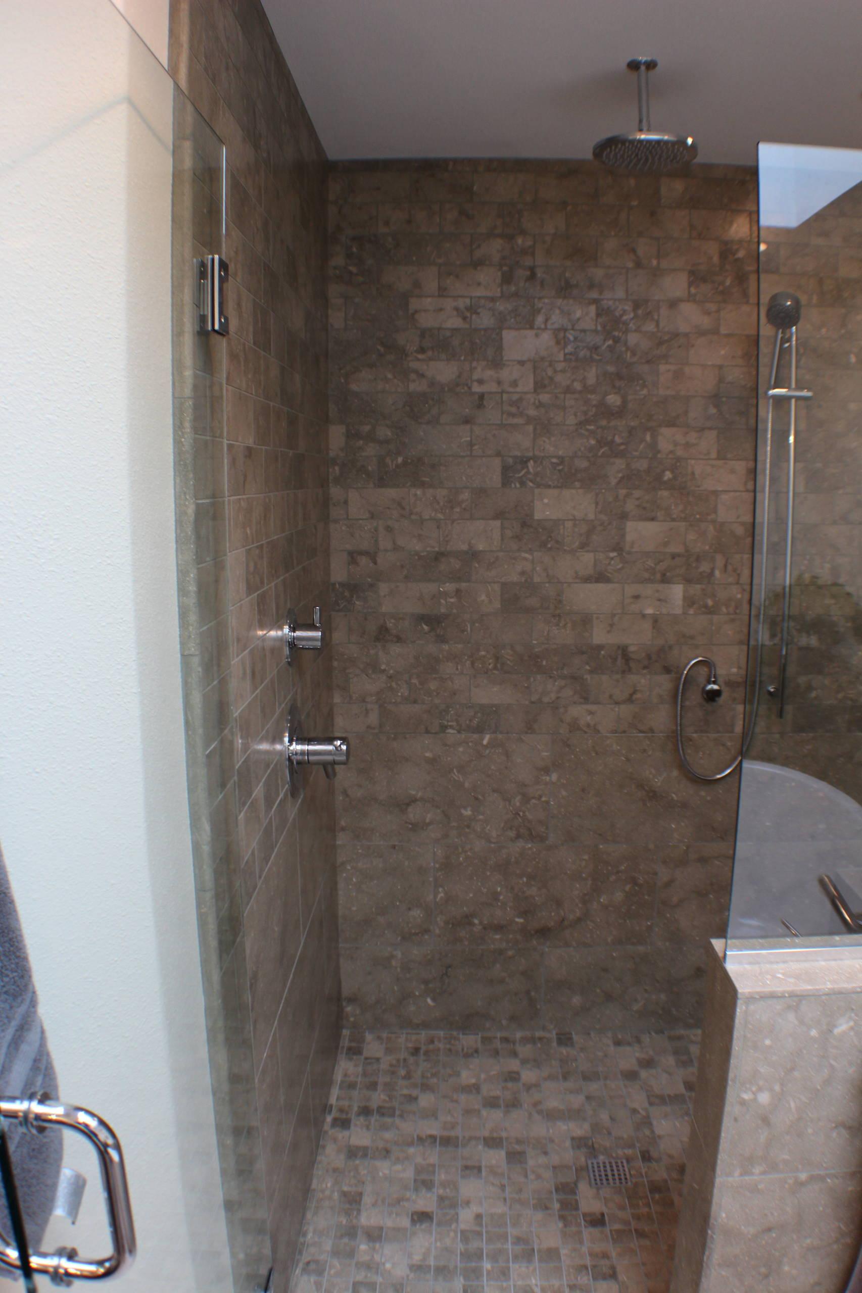 Natural Stone Master Bathrooms