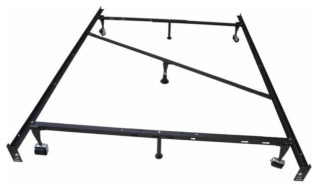 kings brand 7 leg heavy duty adjustable metal bed frame traditional bed frames - Adjustable Metal Bed Frame