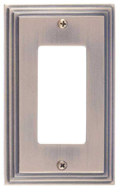 Vanity Light Gfci : Classic Steps Single GFCI - Contemporary - Switch Plates And Outlet Covers - by BRASS Accents, Inc.