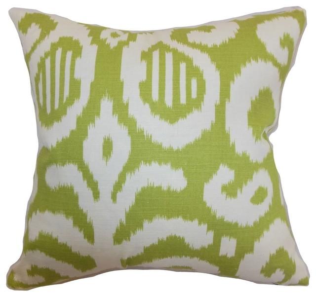 Hohenems Ikat Pillow Lime Mediterranean Decorative  : mediterranean decorative pillows from www.houzz.com size 640 x 602 jpeg 67kB