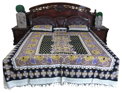Indian Bedding Bed Cover Cotton India Inspired Print Bedspread Cushion Covers