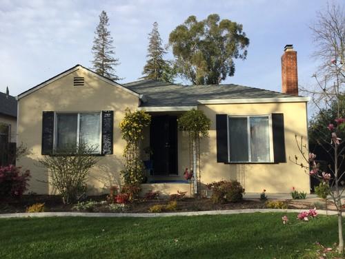 stucco home designs.  Small stucco house needs new color