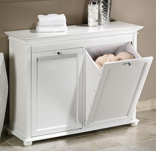 Nice Guest Bathroom Essentials 4 Linen Cabinet With Laundry
