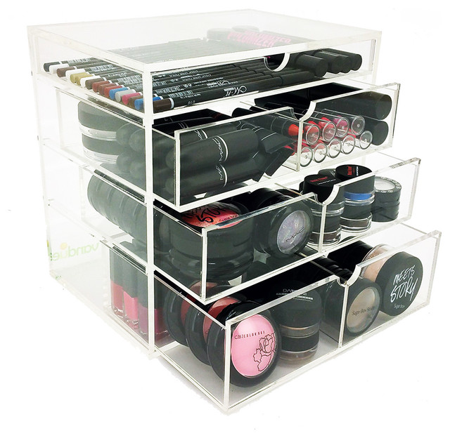 NYC 4 Tier Acrylic Cosmetics Organizer Contemporary
