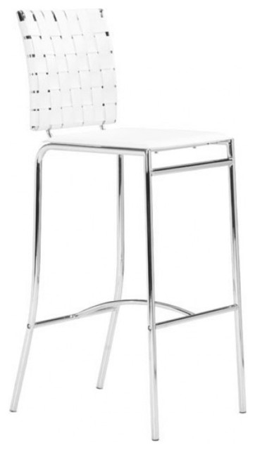 Remarkable Criss Cross Counter Chairs Set Of 2 White Lamtechconsult Wood Chair Design Ideas Lamtechconsultcom