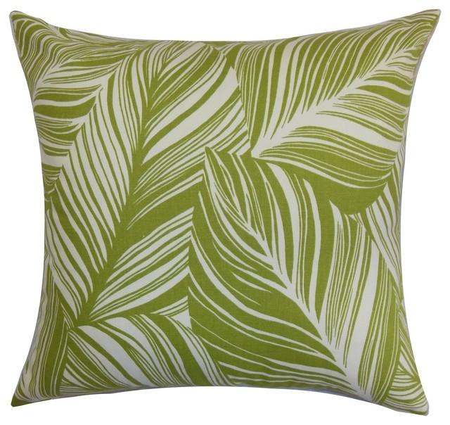 Lehel Floral Pillow Green Contemporary Decorative  : contemporary decorative pillows from www.houzz.com size 640 x 604 jpeg 106kB
