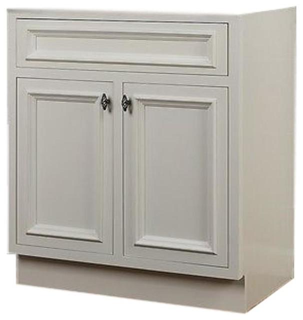 Jsi Danbury White Bathroom Vanity Cabinet Base Solid Wood ...