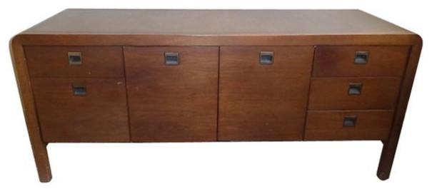 Vintage Solid Oak Office Credenza 1 800 Est Retail 449