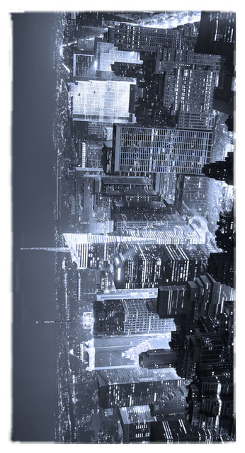 New York Black And White Towel.