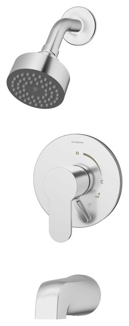 Identity Single Handle Tub and Shower Faucet Trim With Lever Diverter, 1.5 gpm by Symmons