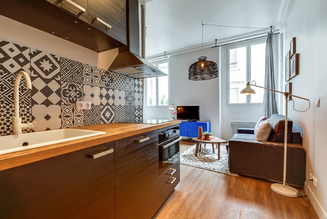 Rénovation d\'un studio de 25m2 dans le Marais - Contemporain ...