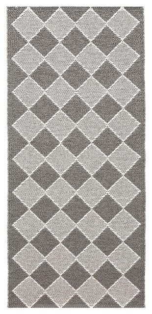 Dialog Woven Vinyl Floor Cloth, Grey, 70x200 cm