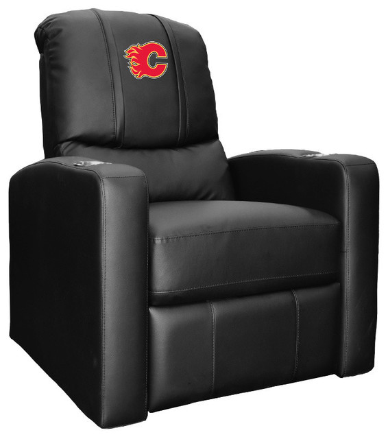 Calgary Flames NHL Stealth Recliner With Red Logo by DreamSeats LLC