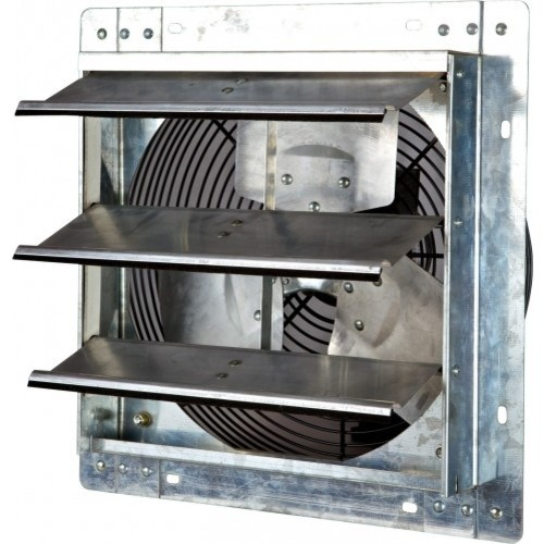Industrial Bath Vent : Iliving variable speed shutter exhaust fan wall mounted