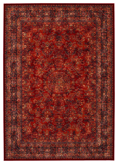 Couristan Old World Classics Antique Kashan 9'10x13'9 Burgundy, Navy Rug