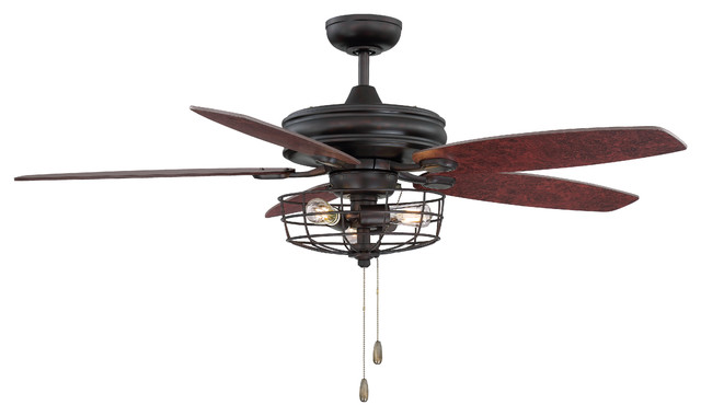 "52"" Ceiling Fan With Light."