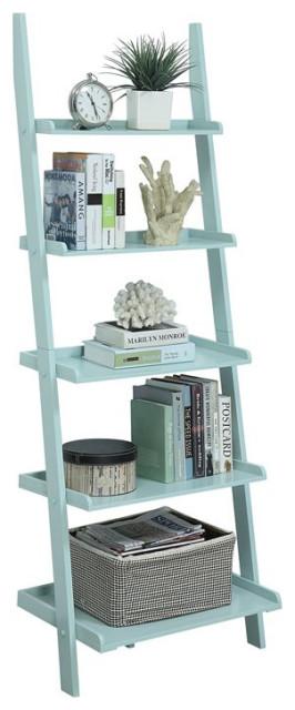 American Heritage Bookshelf Ladder in Sea Foam Green Wood Finish