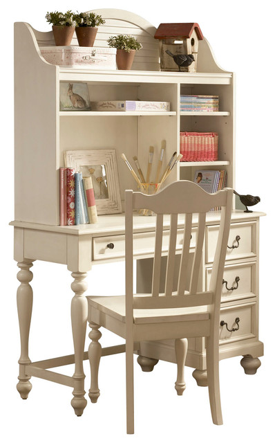 lea retreat white desk with hutch in antique white traditional baby and by beyond stores