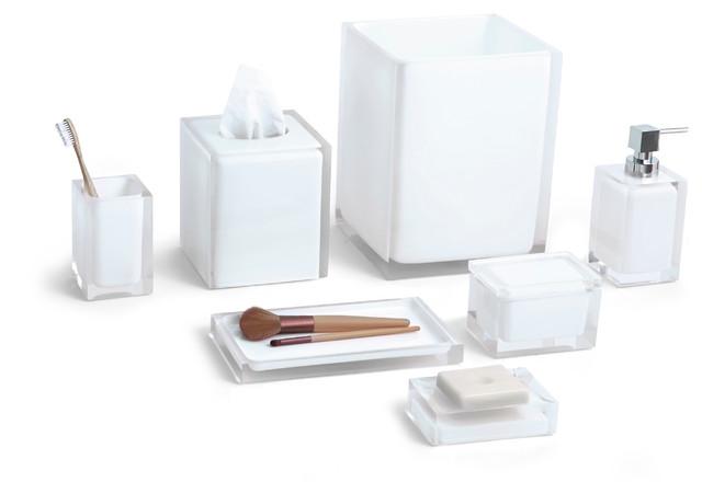 Cubix 7 Piece Bath Accessory Set Contemporary Bathroom