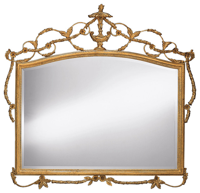Adam style horizontal wall mirror traditional wall for Adam style mirror
