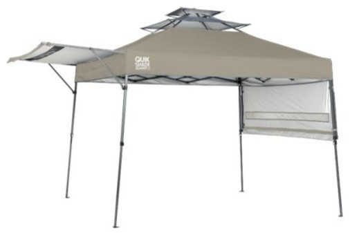 Shelter Logic Sx170 Quik Shade Straight Leg Canopy, Taupe, 10&x27;x17&x27;.