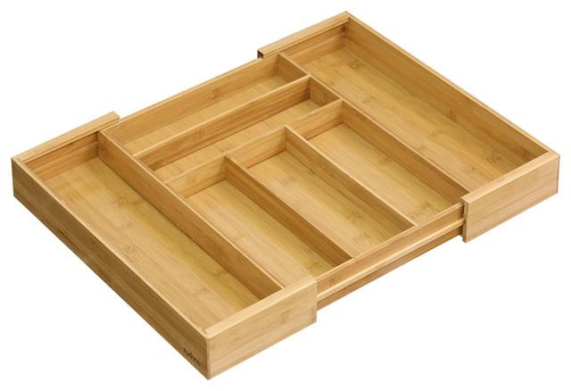 90661748da3 Furinno DaPur Bamboo Expandable Drawer Organizer - Contemporary - Kitchen Drawer  Organizers - by Furinno