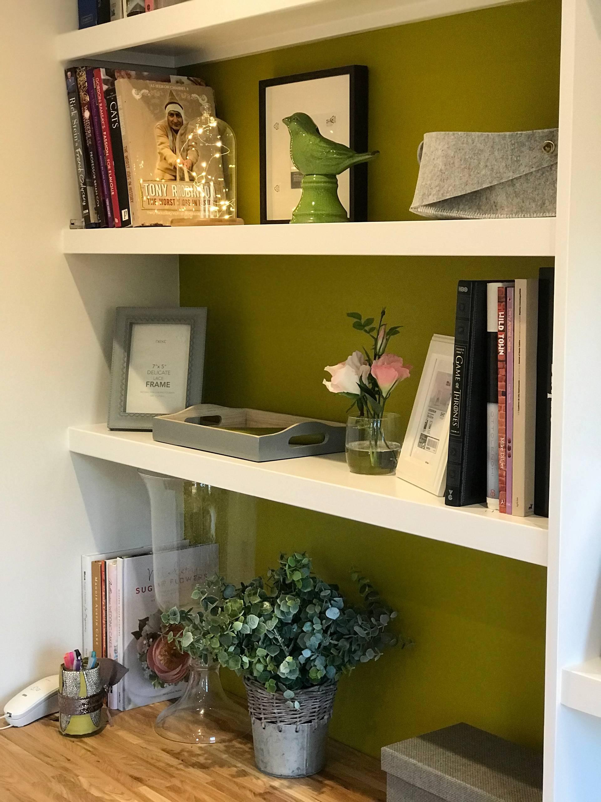 Traditional luxury living room - shelves