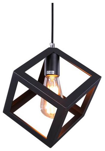 Black Cube Vintage Industrial Mini Pendant Lamp Light