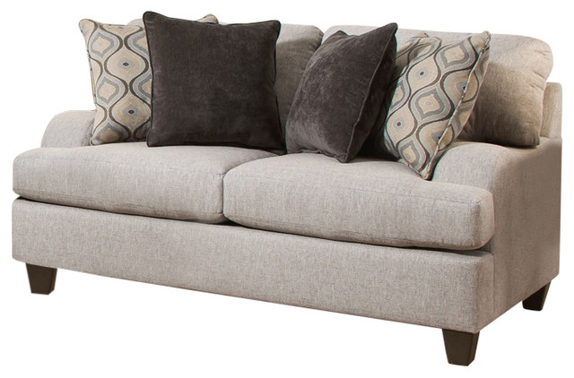 Simmons Upholstery Lennox Sterling Loveseat.